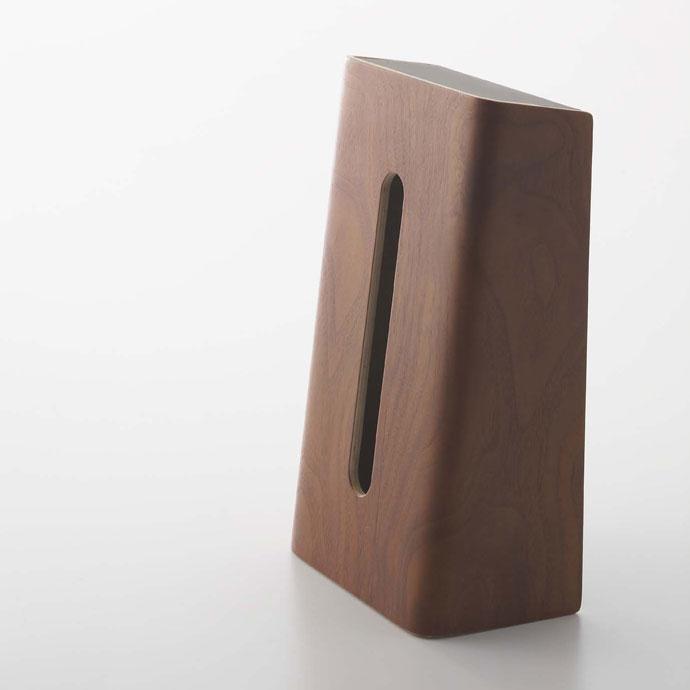 やさしい木目の縦置きティッシュボックス | 丈夫な素材 | 美しく長く使えます