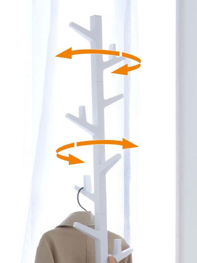 ブランチシルエットのコートハンガー | ハンガー部分は左右90度ごとに回転可能