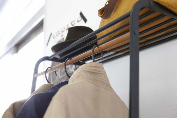 キャスター付きの2段コートハンガー | 丈夫で長持ち素材