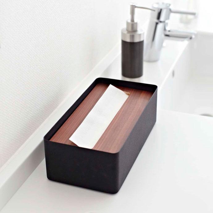上質デザインの蓋付きティッシュボックス | 丈夫な素材 | 安心して使えます