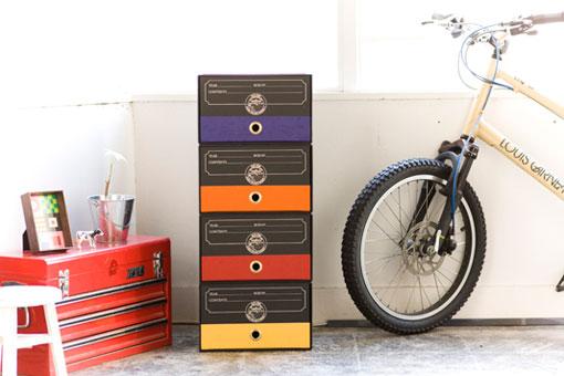 こだわりの紙製収納BOX,ブラック,スッキリ片付く,クールなデザイン!