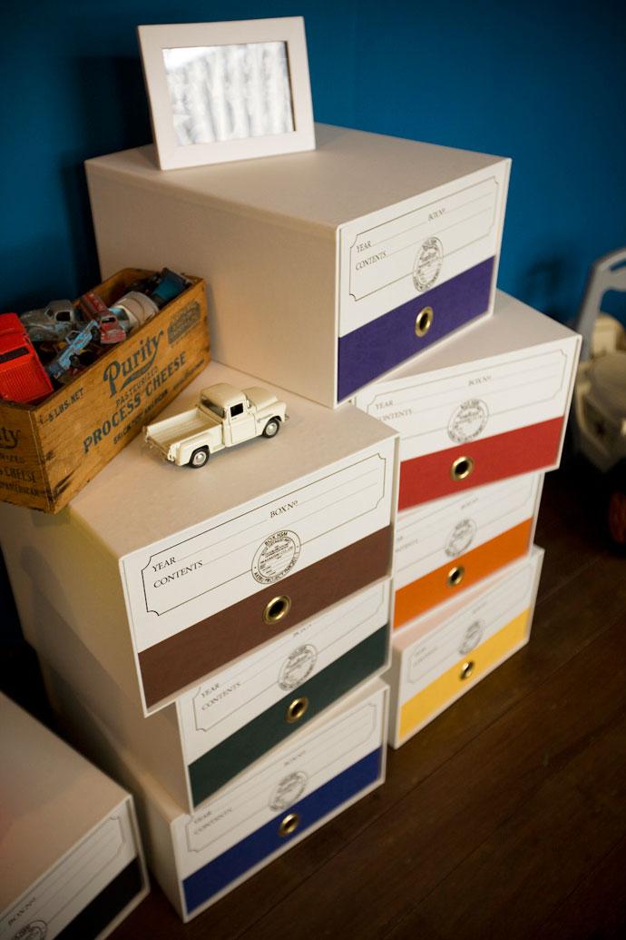 こだわりの紙製収納BOX,ホワイト,センスの良さを感じさせてくれる佇まい