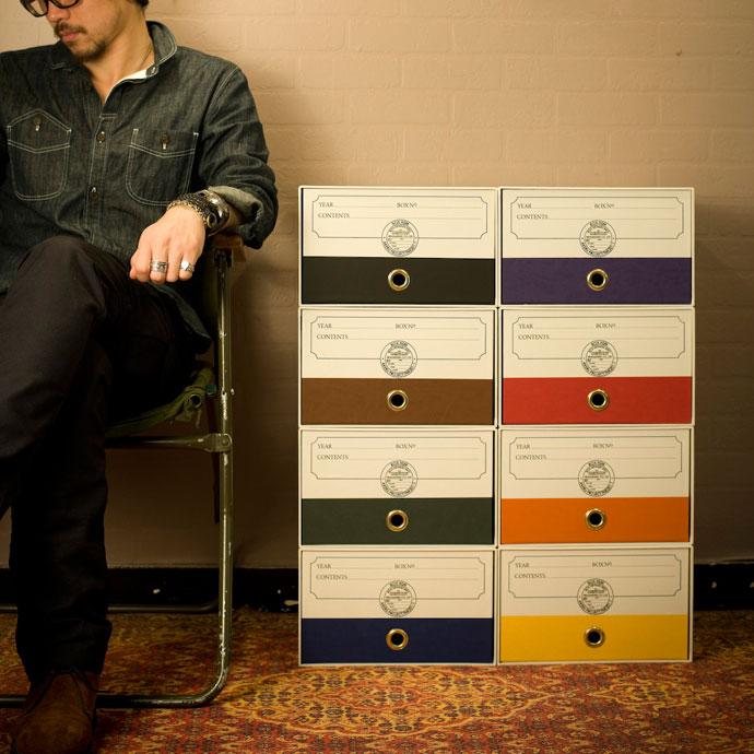 こだわりの紙製収納BOX,ホワイト,揃えてスッキリとした印象に