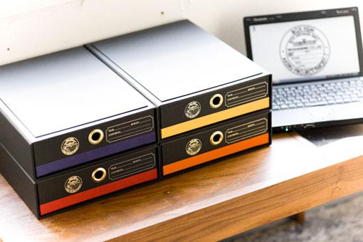 紙製のドキュメントBOX,ブラック,書類にベストな収納BOX,溜まった書類もスッキリ