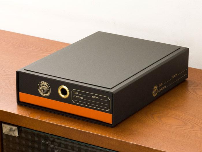 紙製のドキュメントBOX,陽気な遊び心がプラスのオレンジ