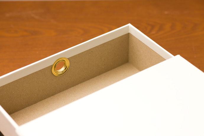 こだわりの紙製ドキュメントBOX,ホワイト,一辺約4mmの厚さで丈夫