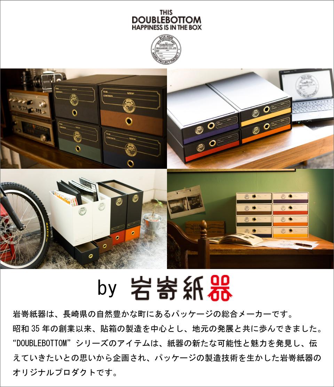 紙製のドキュメントBOX,DOUBLEBOTTOM,岩嵜紙器のオリジナルプロダクトです