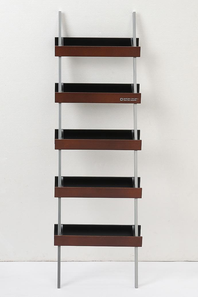 はしごのような木製スリッパラック | ladder rack | ヤマト工芸 | ブラウン