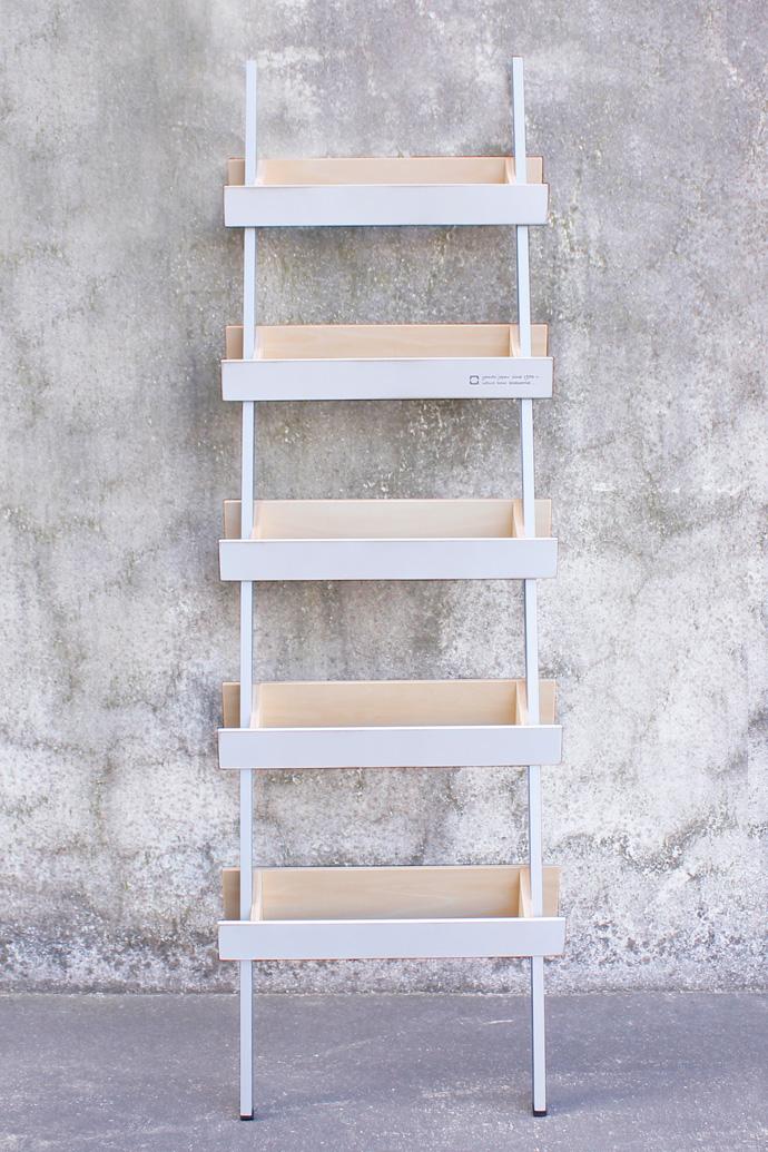 はしごのような木製スリッパラック | ladder rack | ヤマト工芸 | ホワイト