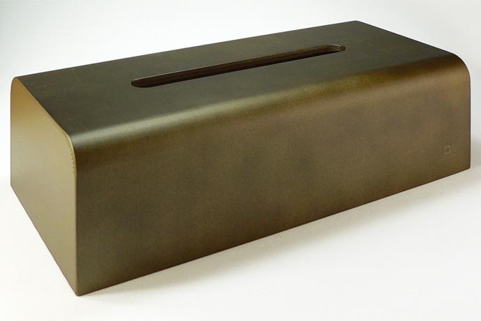 曲げ木カーブが美しいティッシュボックス | NATURE BOX | ヤマト工芸 | ダークブラウン
