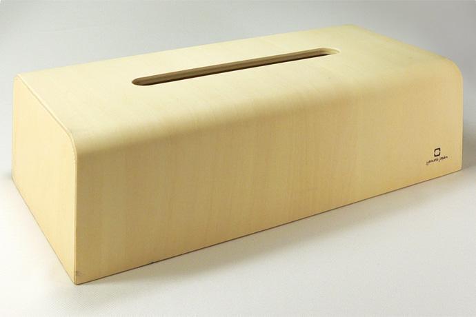 曲げ木カーブが美しいティッシュボックス | NATURE BOX | ヤマト工芸 | 滑らかなカーブが美しいエッジ部分