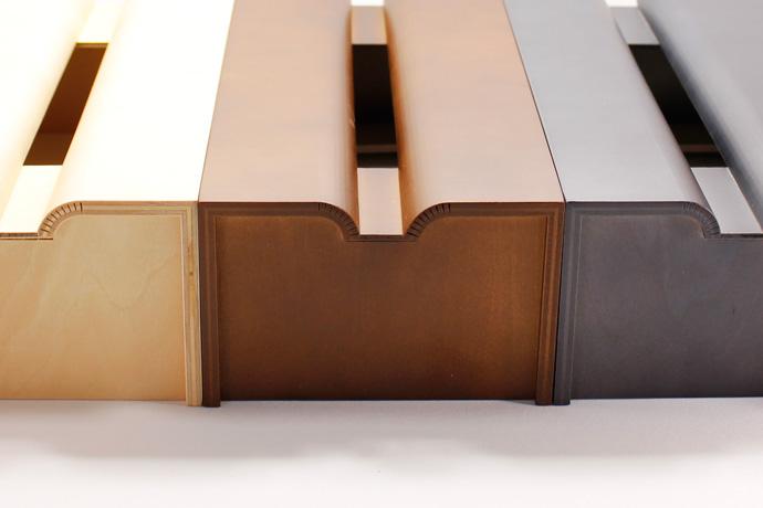 Rラインが美しい木製ティッシュボックス | tissue case m | ヤマト工芸 | 特徴的なRライン
