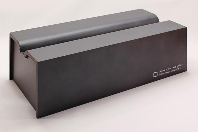 Rラインが美しい木製ティッシュボックス | tissue case m| ヤマト工芸 | ブラック