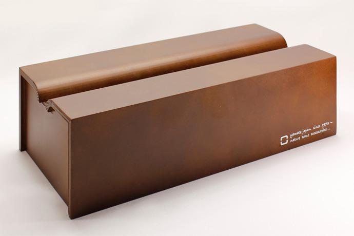 Rラインが美しい木製ティッシュボックス | tissue case m | ヤマト工芸 | ブラウン