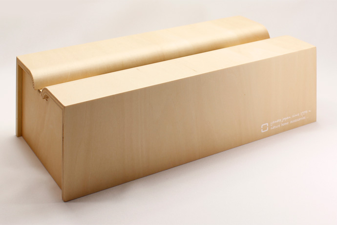 Rラインが美しい木製ティッシュボックス | tissue case m | ヤマト工芸 | ナチュラル