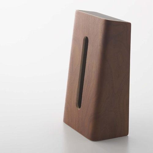 有機的な木目とカーブが美しいティッシュボックス