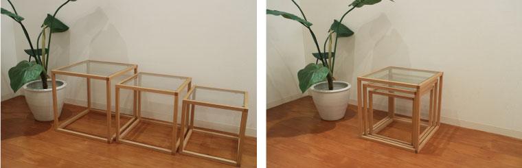 ネストテーブルの収納方法