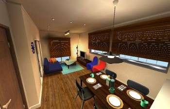 デザイナーズ家具に囲まれたカフェスタイルのお部屋