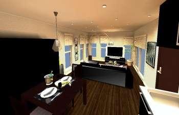デザイン照明をアクセントにしたモダンスタイルなお部屋