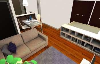 家具で仕切るゾーニングで快適にくらすワンルーム
