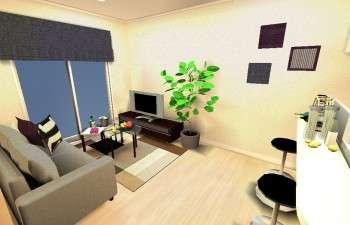 仕事にもプライベートな時間にも集中できる、都会的な部屋