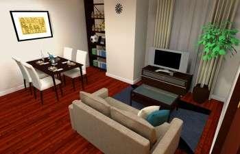 シンプルさを追求しつつも単調ではないモダンなお部屋