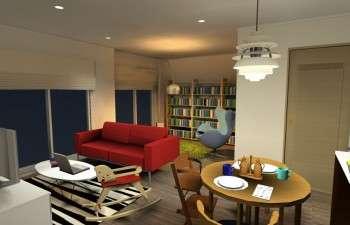 デザイナーズ家具を活かした北欧テイストのお部屋