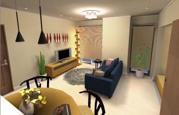 デザイナーズ家具を取入れた和モダンスタイル