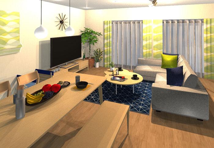 シンプルでもほっこりな北欧テイストのお部屋