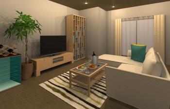 木の質感を感じられるシンプルなお部屋