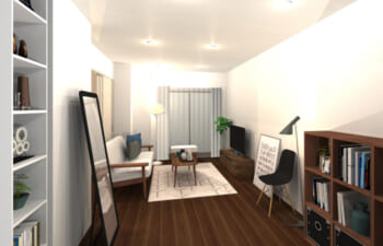 シンプルさとインテリア性を両立させたお部屋